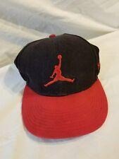 New Era - Micheal Jordan Hat 7 1/4 Black and Red Jump Man Bulls