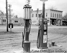 Texaco Gas Station / Pumps, Le Grand, Iowa - 1940 - Historic Photo Print