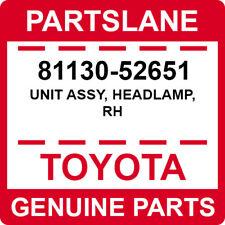 81130-52651 Toyota OEM Genuine UNIT ASSY, HEADLAMP, RH