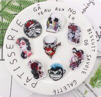 Skull Halloween Mask Punk Goat Rose Pirates Monkey Acrylic Badges Pin Brooches
