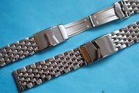 Premium Edel Stahlband, Uhrenarmband massiv 18 20 22 24mm poliert