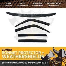 Bonnet Protector, Weathershields For Nissan Patrol GU 1-2-3 Wagon 1997-2004