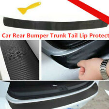 Universal 3D Carbon Fiber Car Rear Bumper Trunk Tail Lip Protect Decal Sticker Q