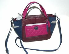 COACH Burgundy Park Multi Quilted Leather Mini Tote Crossbody NEW NWT Auth $268
