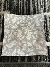 Large Square Decorative Grey Abstract Lily Glass Plate 31.5cm X 31.5cm