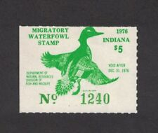IN1 - Indiana First Of State Duck Stamp. Single.  MNH. OG.