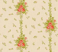 Vlies Tapete Blumen Kletterrosen Landhaus beige grün rot 34500-1 Chateau 5