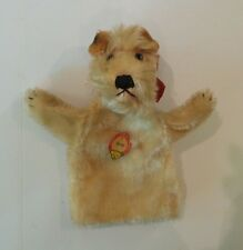 "VINTAGE 1950's STEIFF ""FOXY"" MOHAIR FOX TERRIER HAND PUPPET, CHEST TAG"
