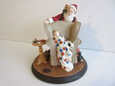 "1991 Norman Rockwell Heirloom Collection ""Christmas Dream"" Resin Santa Figurine"