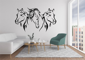 Horse Wall Stickers Vinyl Transfer Girls Horses Trailer Stable Graphic New