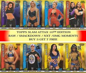 2017 Topps WWE SLAM ATTAX 10TH EDITION NXT Hall of Fame, Legend cards #181- #361