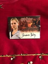 Harry Potter and the Goblet Of Fire Autograph Card Artbox Signed Clemence Poesy