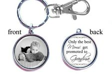 Personalized Baby Photo Keychain Double-Sided (2 sides) Gifts New Grandma Nana