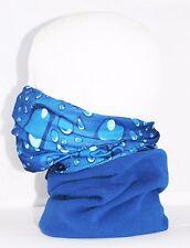 Blue Multi use Biker Balaclava Cycling Neck Tube Scarf Fleece Warmer Bandana