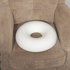 Memory foam donut cushion, with free White poly cotton cover.