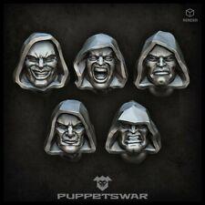 Hooded heads Five models Puppetswar S208