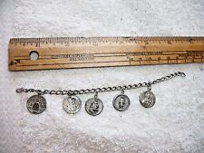 ANTIQUE  RELIGIOUS STERLING SILVER CHARMS CHAIN MIRACULOUS INFANT ST. JOSEPH