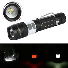 COB LED + 3 Modes T6 USB Rechargeable Flashlight Zoomable Torch Lamp 18650