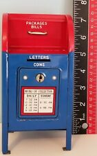 New ListingVintage Made In Japan U.S. Postal Service Mail Box Coin Bank W/ Key Usps Tin