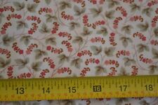 By 1/2 Yd, Red & Green on Cream Quilting, Moda/3 Sisters/Etchings/4069 16, M8789