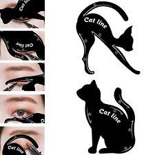 2pcs Cat Line Eyeliner Stencils Cat Eyes Shaper Eye Shadow Tool Makeup Template
