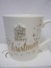 New Lesser And Pavey Fine China Mug Coffee Tea Snowflake Merry Christmas LP33732