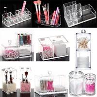Clear Acrylic Cosmetic Makeup Case Lipstick Organizer Holder Jewelry Storage Box