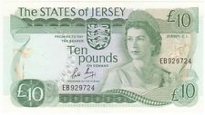 JERSEY 10 POUND SIGNED MAY, PREFIX EB, ABOUT UNCIRCULATED