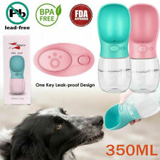 Hand Portable Puppy Dog Cat Pet Water Bottle Cup Drinking Travel Outdoor pink