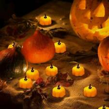 LED Mini Lights Pumpkin Flameless Candle Night Light Battery Powered Party Decor