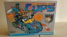 VINTAGE 80'S COPS SQUAD CAR HIGHWAY INTERCEPTOR MISB ROADBLOCK REALLY NICE LQQK