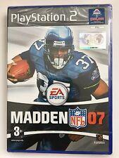Madden 07 NFL Gioco Per Sony PS2 (nuovo e sigillato)