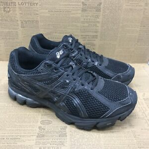 Asics Mens GT-1000 3 T4L0N Black Athletic Shoes Lace Up Low Top Size 9.5 4E