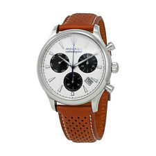 New Movado Heritage Series Calendoplan Cognac Leather Strap Mens Watch 3650008