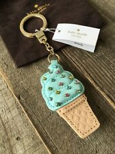 """KATE SPADE NEW YORK """"LEATHER ICE CREAM"""" FLAVOR THE MONTH FOB KEY RING/CHAIN, NWT"""