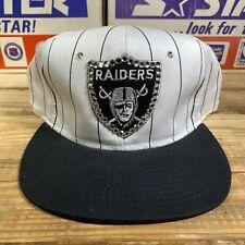 Vintage Los Angeles Raiders Bedazzled Snapback Hat / Cap Plain Logo NWA