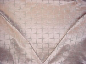 3Y Zoffany Harlequin 132251 Issoria Blush Pink Square Velvet Upholstery Fabric