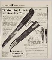 1929 Print Ad Finnish Kauhavan Pukkoo Swedish Steel Hunting Knives Cleveland,OH