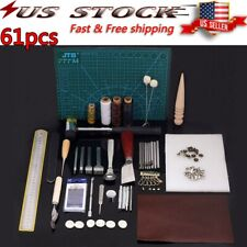 Leather Working Tools Kit Set Sewing Craft Supplies Stitching Making Groover US
