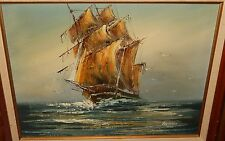 ANTONIO SAILING SHIP ORIGINAL OIL ON CANVAS PAINTING
