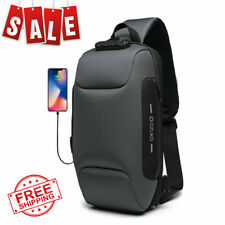New Multifunction Crossbody Bag for Men Anti-theft Shoulder Messenger Bags Male