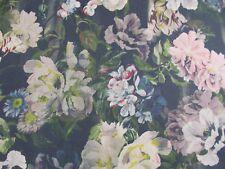 Designers Guild Fabric 'DELFT FLOWER' 1 METRE (100cm) GRAPHITE 100% Linen
