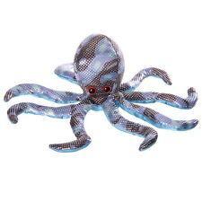SANDTIER KRAKE mittelgroß 20 cm breit Stofftier Hellblau - Schwarz Pkt Deko NEU!
