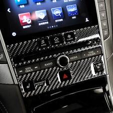 For Infiniti Q50 Q60 2014-2019 Carbon CD Panel  Frame Trim Cover Fiber Interior