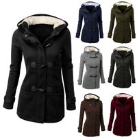 Women's Hooded Jackets Overcoat Thicken Slim Fit Warm Tops Outerwear Plus Size