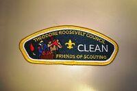 OA THEODORE ROOSEVELT COUNCIL SHOULDER PATCH CSP CLEAN SERVICE FOS SERVICE FLAP