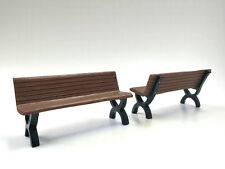 BENCH ACCESSORY 2 PIECES SET FOR 1:18 MODELS BY AMERICAN DIORAMA 23982