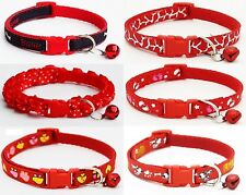 Red Dog Collar Puppy Small XS Tiny Strong Clip Male Female Boy Nylon Cute Puppie