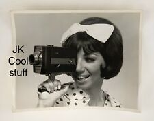 Vintage 1965 PHOTO Cute Girl Bell Howell SUPER 8 Camcorder Cameras Advertising