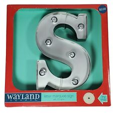 """Wayland Square 9 Inch Marquis LED Lighted Letter """"S"""" Battery Powered Timer"""